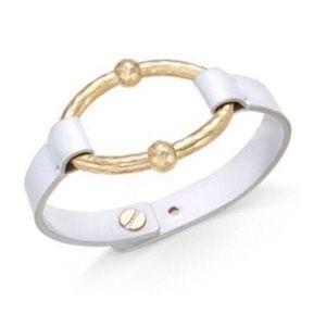 Ralph Lauren Oval Ring Leather Bracelet